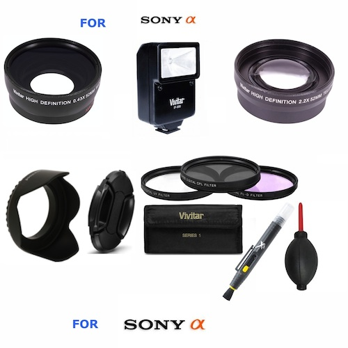 CPL Microfiber Cleaning Cloth 52mm Circular Polarizer Multicoated Glass Filter for Sony Alpha DSLR-A500L