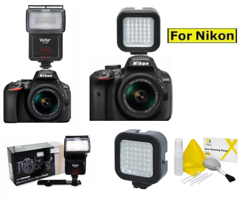 PivPo Pivoting Positioning 180 Degrees Digital Nc Nikon D3500 Flash Bracket Nikon Shoe