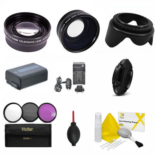 TELEPHOTO LENS WIDE ANGLE LENS PRO KIT FOR SONY ALPHA A6000 40.5MM 49MM