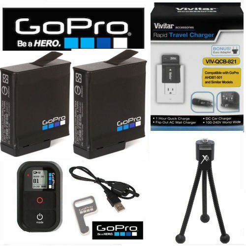 REMOTE+TRIPOD 1X BATTERY FOR GOPRO HERO 5 6 7 AADBD-001 DUAL BATTERY CHARGER
